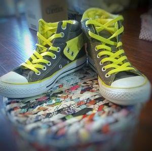 Super cool grey high top Converse sneakers